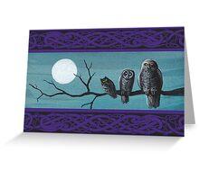 Spooky Halloween Owls Greeting Card