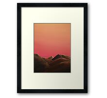 Red Mountains Framed Print