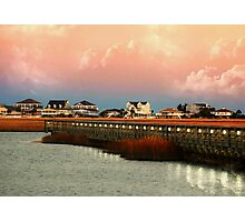 Evening Along The Marshwalk Photographic Print