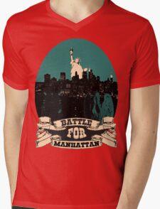 battle for manhattan Mens V-Neck T-Shirt