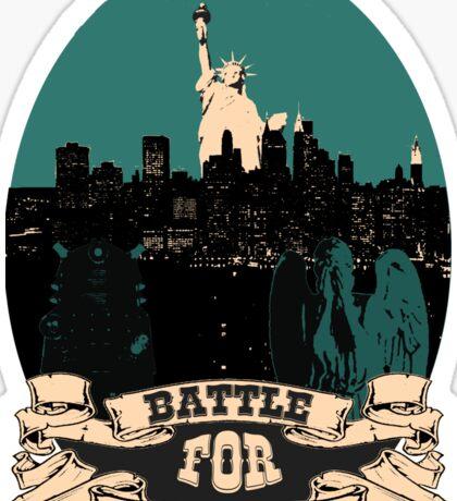 battle for manhattan Sticker
