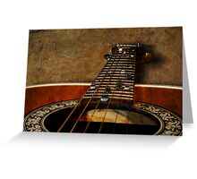 Six String Highway Greeting Card