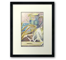 Skull & Pitcher Color Pencil & Water colour Framed Print