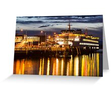 Washington State Ferry, Puyallup Greeting Card