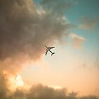 airplane on the north sky by Imre Krénn