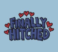 "Wedding Just Married ""Finally Hitched"" by FamilyT-Shirts"