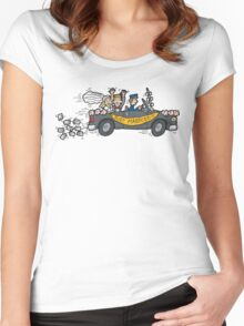 """Honeymoon """"Just Married"""" Women's Fitted Scoop T-Shirt"""