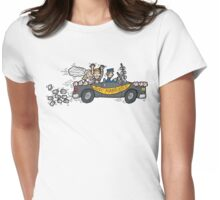 "Honeymoon ""Just Married"" Womens Fitted T-Shirt"