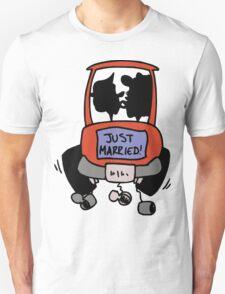 "Wedding Day Honeymoon ""Just Married"" Unisex T-Shirt"