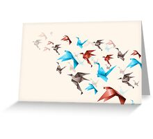 Flying Origami Greeting Card