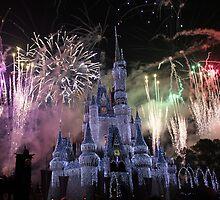 Castle Fireworks Christmas by Chris Bastow