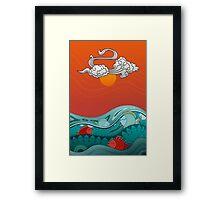 Fish Float Framed Print