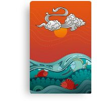 Fish Float Canvas Print