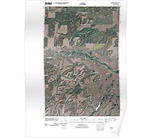 USGS Topo Map Washington State WA Sassin 20110401 TM Poster