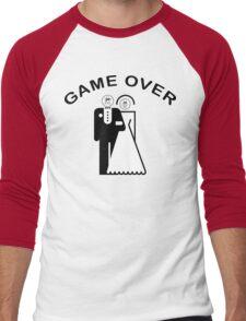 Game Over Getting Married Men's Baseball ¾ T-Shirt