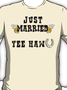 Just Married Cowboy T-Shirt