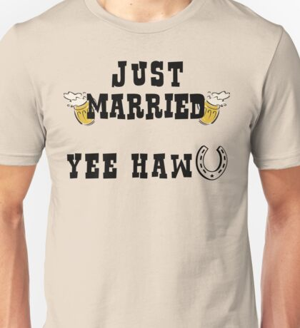 Just Married Cowboy Unisex T-Shirt