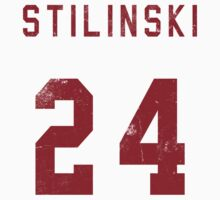 Stilinski Jersey--Red Lettering T-Shirt