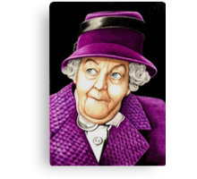 Margaret Rutherford plays Miss Jane Marple Canvas Print