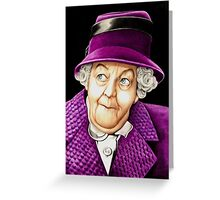 Margaret Rutherford plays Miss Jane Marple Greeting Card
