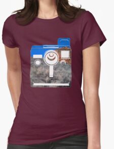 Retro Camera/ Utah Mountains Womens Fitted T-Shirt
