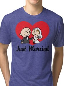 Just Married Tri-blend T-Shirt