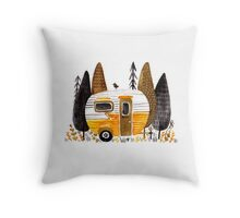 Trailer Parking Throw Pillow