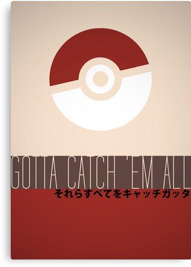Minimalistic Pokémon by Jack McQuone