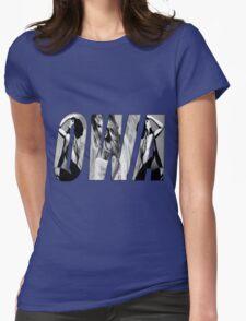 Ciara's OWA Black & White Womens Fitted T-Shirt