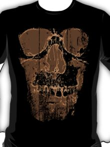 Skull Tee: Brown T-Shirt