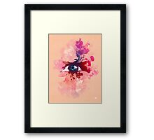 Psychedelic Color Eye Splash by Pepe Psyche Framed Print