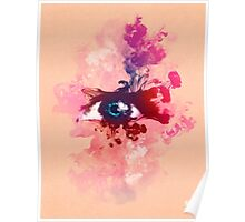 Psychedelic Color Eye Splash by Pepe Psyche Poster