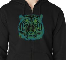 Tiger Face Zipped Hoodie