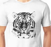 Black and White Tiger Face  Unisex T-Shirt