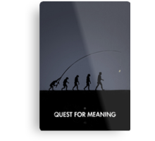 99 Steps of Progress - Quest for meaning Metal Print