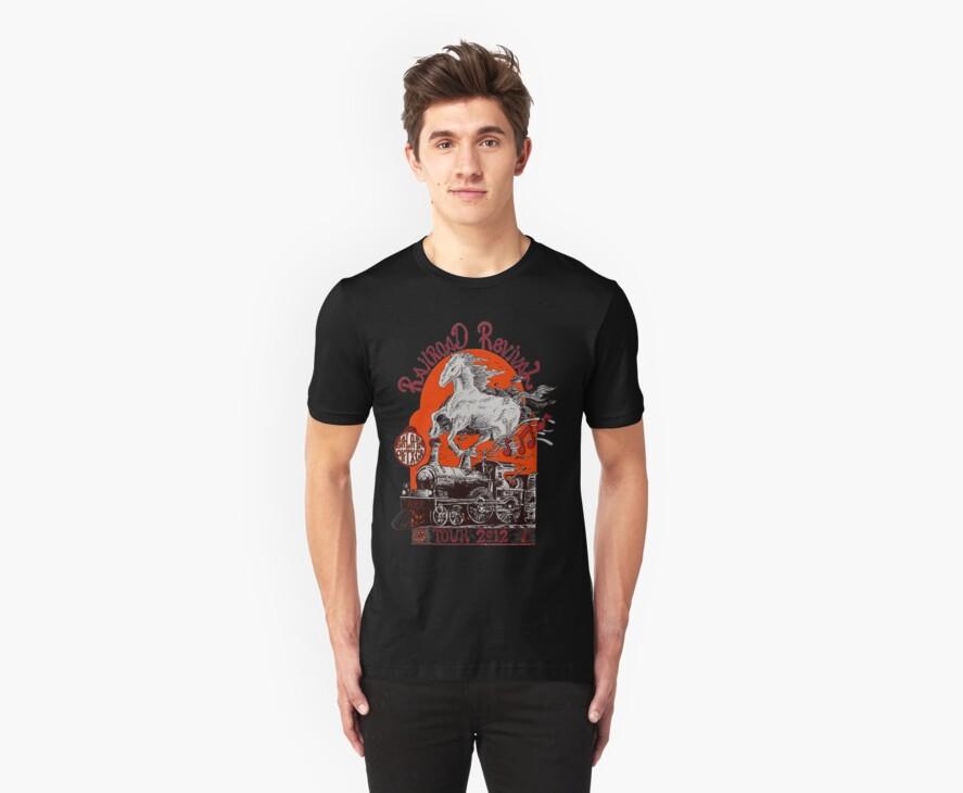 """Iron Horse"" RailRoad Revival Tour 2012 T-shirt by john michael  barone"