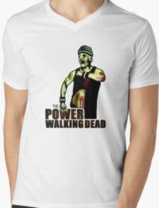 The Power Walking Dead (on White) [ iPad / iPhone / iPod Case | Tshirt | Print ] Mens V-Neck T-Shirt