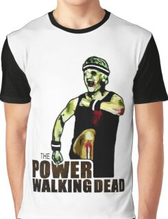 The Power Walking Dead (on White) [ iPad / iPhone / iPod Case   Tshirt   Print ] Graphic T-Shirt