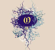 Retro Damask Pattern with Monogram Letter O Womens Fitted T-Shirt