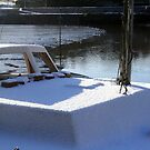 Snowy covered boat by Asrais
