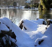 Lake and snow by Asrais