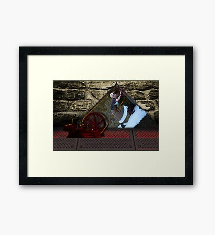 Running up that hill Framed Print