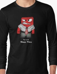 This is my happy face Long Sleeve T-Shirt