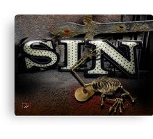 Sin Canvas Print