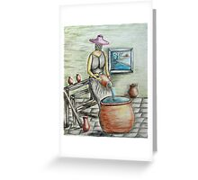 mystery woman Greeting Card