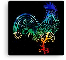 Inked Rooster Canvas Print