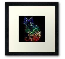 Inked Cat Framed Print