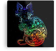 Inked Cat Metal Print