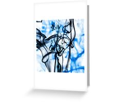 Black and Blue Abstract Smoke Pattern Greeting Card