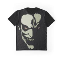Silver Scary Face Graphic T-Shirt
